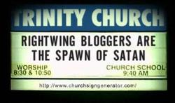 Rightwing bloggers are the spawn of Satan